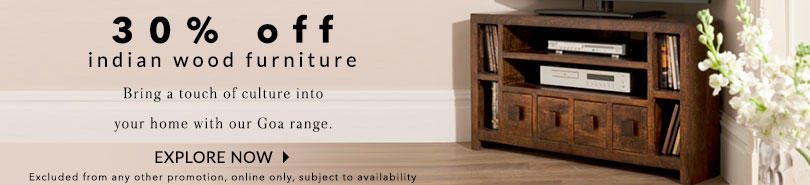 Discover a new side to living with our Indian wood furniture range at George.com