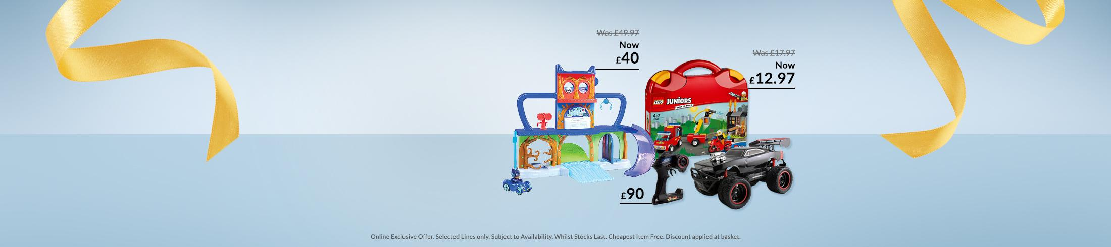 Top up their toybox with 3 for 2 on selected toys