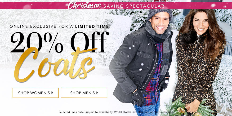 Wrap up this winter with 20% off coats at George.com
