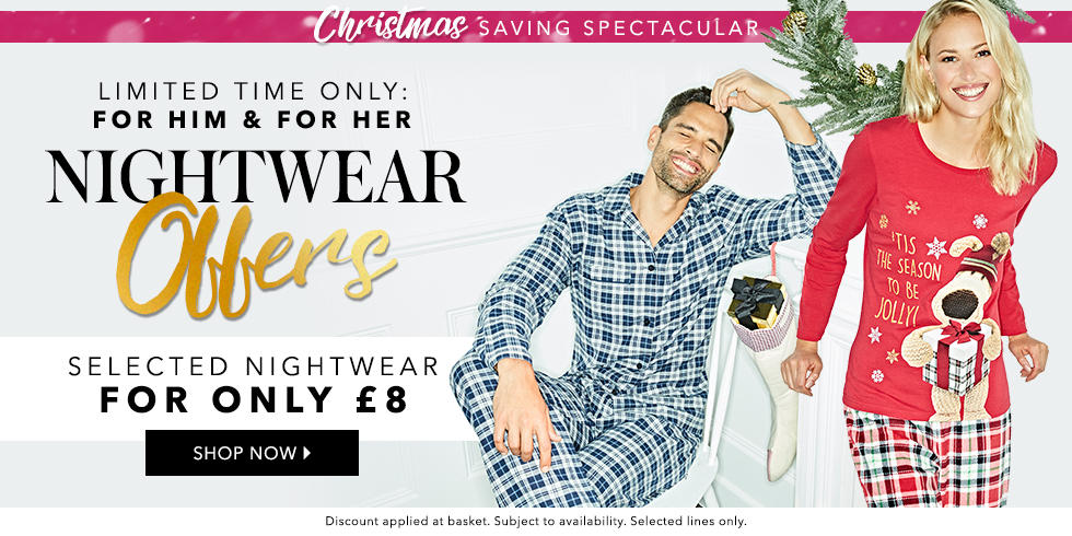 Snuggle up with nightwear for £8 at George.com