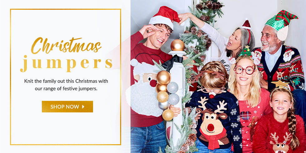 Get in the festive spirit with our fun range of Christmas jumpers at George.com