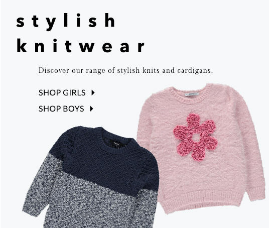 Add cosiness to their wardrobe with lovely knits and jumpers at George.com