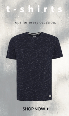Top up your wardrobe with these stylish tees at George.com