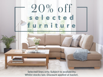 Make a house feel like home with 20% off furniture at George.com