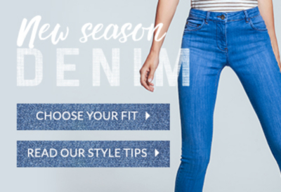 Choose your style and fit with our great selection of denim and jeans at George.com