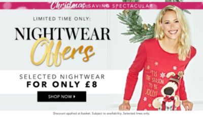 Stay warm and stylish this winter with nightwear for £8 at George.com