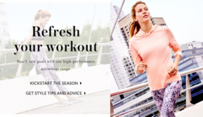 Refresh your wardrobe with everything you need to get fit this season at George.com