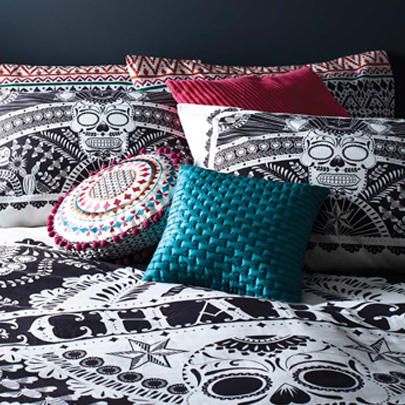 Bring a whirl of colour using cushions, accessories and bedding with the Fete collection at George.com