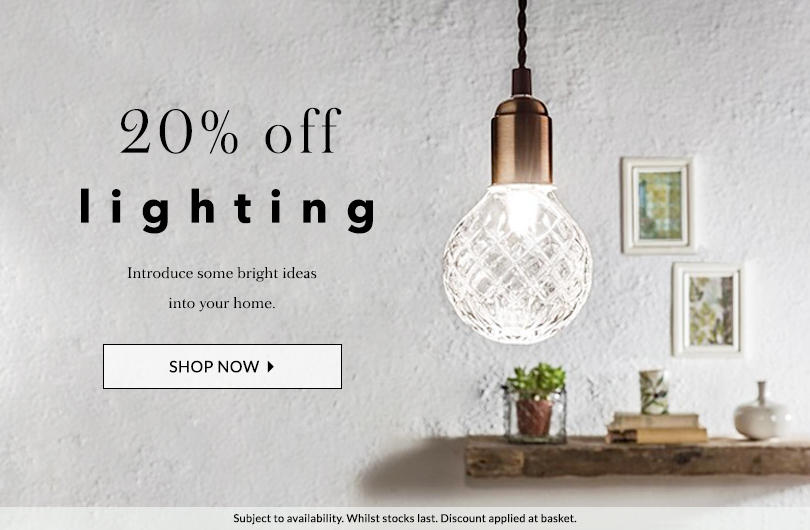 Light up your home for less with 20% off at George.com