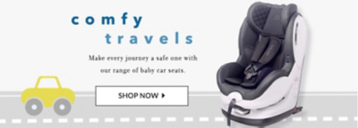 Enjoy comfy and safe trips with our baby car seat range at George.com