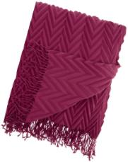 Zig zag knitted throw