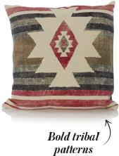 Bold tribal ikat patterns