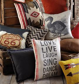 love live laugh cushion