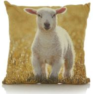 Lamb print cushion