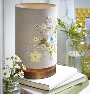 Floral Cylinder Table Lamp