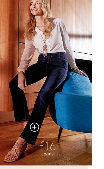 Discover effortless 70s chic at George.com this season with flared jeans and a bohemian blouse