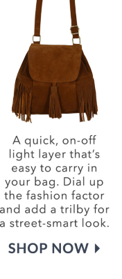 Perfect for weekend walks, shop fringed bags and fringed tan accessories at George.com this season