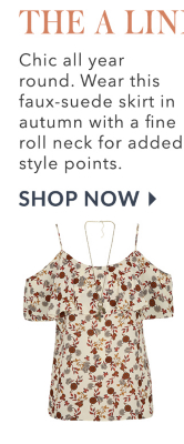 Find cold-shoulder tops and floral print summer-into-autumn tops from George at Asda