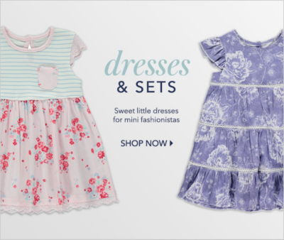 Shop our cute range of baby dresses and outfits