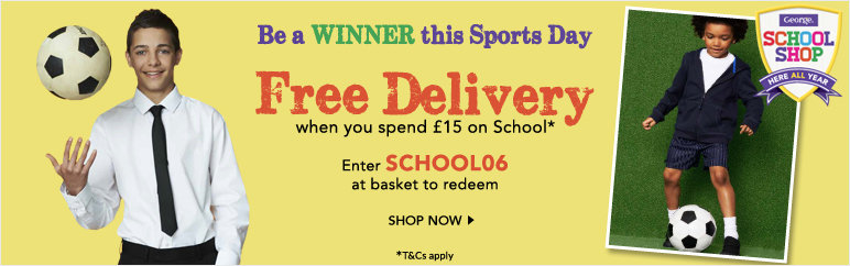 Free Delivery when you spend £15 on School