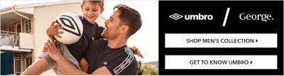 Get kitted out with the Umbro mens collection at George.com