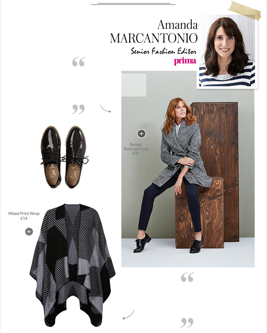 Senior Fashion Editor at Prima, Amanda Marcantonio chooses her favourite items from George at Asda