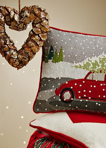 Discover a range of beautiful cushions and Christmas decorations at George.com
