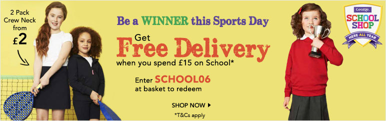 Get Free Delivery when you spend £15 on school