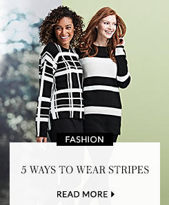 Find 5 new ways to wear stripes from us here at George at ASDA with our latest trend, bringing you the most flattering striped tops, trousers and outfits around