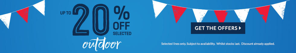 Bank holiday spectacular 20% off selected outdoor furniture and toys at George.com