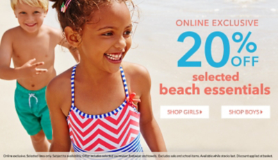 Get them excited for the holidays with 20% off selected beach essentials at George.com