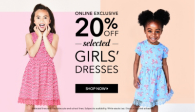 Get them set for summer with 20% off girls dresses at George.com