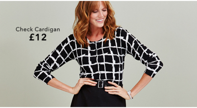 Update your winter work wardrobe with a range of checked cardigans and blouses at George.com