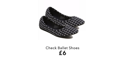 Pick from a range of on-trend checked footwear from ballet pumps to boots at George.com