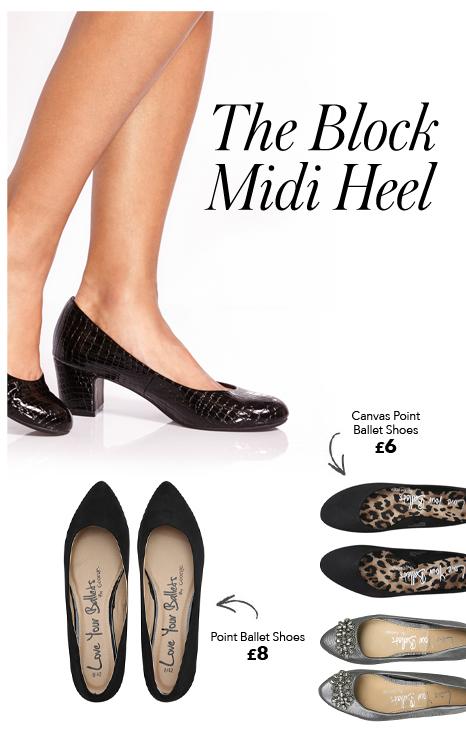 womens block midi heels