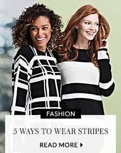 Find 5 new ways to wear stripes from us here at George at ASDA with our latest trend, bringing you the most flattering striped tops, trousers and outfits around.