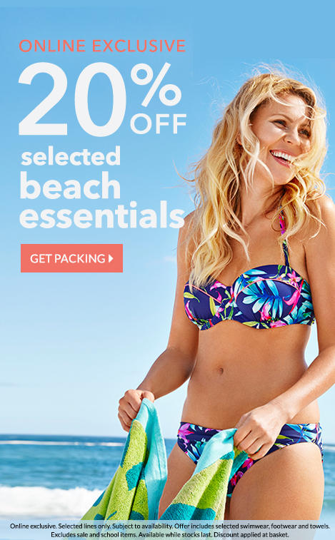 Get him geared up with 20% off selected beach essentials at George.com