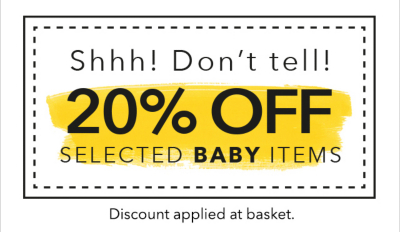 Get an amazing 20% off selected baby items, including pushchairs, only at George.com