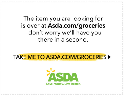 Asda Groceries Error Page