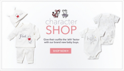 Shop baby character clothing at George.com