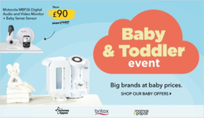 Shop a range of big brands and baby prices at the George.com baby event