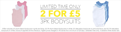 2 for £5 bodysuits