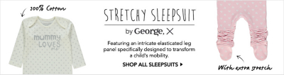 stretchy sleepsuits