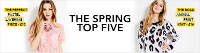 spring top five