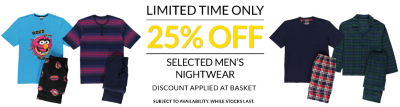 mens nightwear offers