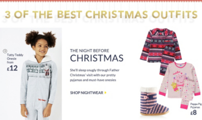 Girls christmas nightwear