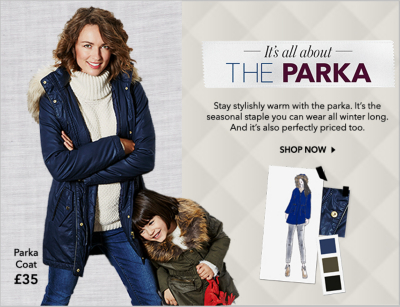 Shop women's coats, jackets and cosy parkas at George.com now