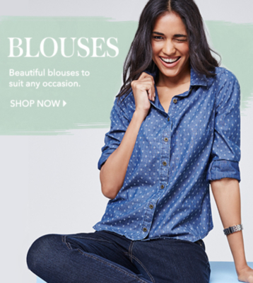 Shop women's blouses and formal shirts now at George.com