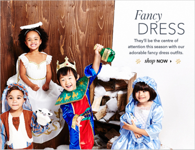 Give them the fancy factor with a range of fancy dress outfits at George.com