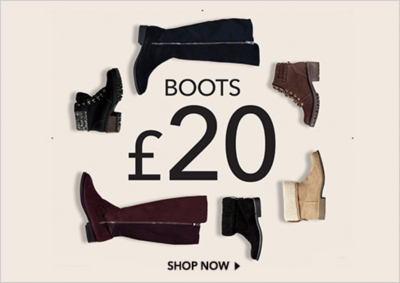 Find women's boots, from over-the-knee styles to ankle boots, now at George.com